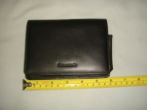 PANASONIC BLACK LEATHER CASE/POUCH WITH HAND STRAP - IN GOOD/ V GOOD CONDITION