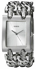 Reloj Guess Mujer Silver Plata Crystal Chain Pulsera Bracelet Woman Watch Hand