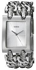 Reloj Guess Mujer Silver Plata Crystal Chain Pulsera Bracelet Woman Watch Hand