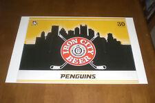 PITTSBURGH PENGUINS IRON CITY BEER 11x17 PRINT