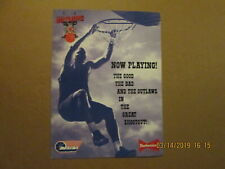 Nbl Calgary Outlaws Vintage Defunct Now Playing! Budweiser Sponsored Logo Poster