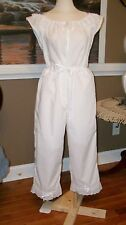 Civil War Dress Victorian Underpinning Cotton Chemise & Crotchless Pantalets~Reg