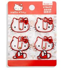 8 pcs Cute Pink Hello Kitty Note Office Paper Clip Metal Novelty Bookmark