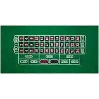 """36"""" x 72"""" Green Roulette Casino Gaming Table Felt Layout Mat"""