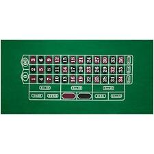 """36"""" x 72"""" Roulette Casino Gaming Table Top Felt Layout Mat. Roulette Cover Mat"""