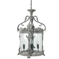 Hängelampe im Laternenstil, grau Ø 32 Deckenlampe Clayre & Eef 40538Z Vintage NE