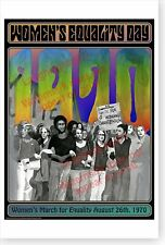 2012 Women's Equality Day 1970 Women's March For Equality DOD Poster