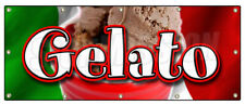 GELATO BANNER SIGN concession ice cream Italian dessert cold homemade