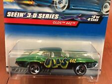 Hot Wheels Oldsmobile 442 1968-1972 body style 3D series green