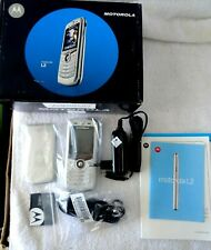 Motorola lustrous Silver L2 GSM 900/1800/1900 Cellular Mobile Phone new open box