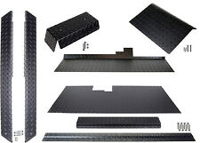 Club Car DS Golf Cart (Black) Diamond Plate Accessory Kit w/ Floor
