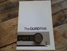 Vintage Quad FM4 Sales Brochure