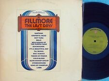 Fillmore: The last days ORIG OZ 3LP EX 72 Warner Santana Taj Mahal Grateful Dead