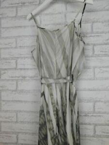 Tulips Jumpsuit Sz 8 Grey, brown print Embellished