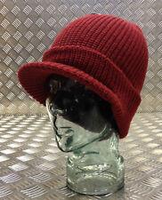 Dark Red / Maroon Peak / Peaked Beanie Hat / Jeep Cap - One size - BRAND NEW