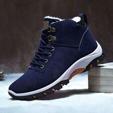Men's Casual Winter Warm Fur Lined Sneakers Boots Hiking Walking Athletic Shoes