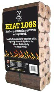 Big K 12 Pack Compressed Saw Dust Eco Heat Logs Long Lasting High Heat Wood Logs