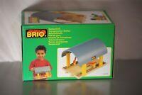 Vintage BRIO 33478 TRANSPORTATION STATION DOUBLE TRACK DEPOT 1996 NEW RARE