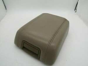 Ford F-150 2004-2008 Tan Leather Center Console Cover Lid Armrest OEM