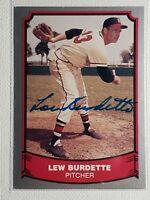 1988 Pacific Lew Burdette Autograph Card Braves Yankees Cardinals Auto D-2007