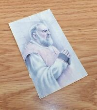 Prayers To Saint Padre Pio 26-2-2002 Pastel Colored Paper Prayer Card Only *READ
