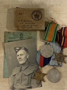 Original WWII Medal Group Etc