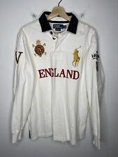 Polo Ralph Lauren Large England Snow Challenge Cup White Crest RRL Shirt Jacket