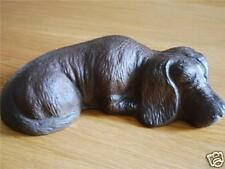 Rustic Cast Iron Resting Dog Home Garden Ornament Door Stopper