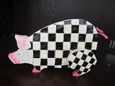 "MR. ANIMALS Black Checkered Pig LARGE 11 "" Long NEW In Box BRW3017932"