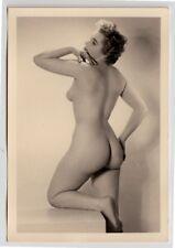 #753 ROESSLER AKTFOTO / NUDE WOMAN STUDY * Vintage 1950s Studio Photo - no PC !