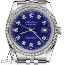 Ladies Rolex 26mm Datejust Blue Color Dial with Diamond Accent Watch