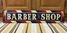 "BARBER SHOP Large Metal Decor Shave Oster Clipper Hair Salon Vintage Style 28"""