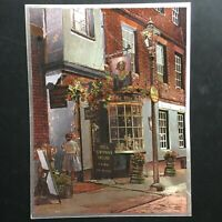 VINTAGE DUFEX FOIL ART PRINT Nell Gwynn's House Village Towne Made in ENGLAND
