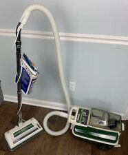 Vintage Eureka 1784B Green Canister Vacuum  with Accessories