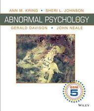 Abnormal Psychology by Davison,  Neale, Johnson, Kring DSM 5 Wiley 12e