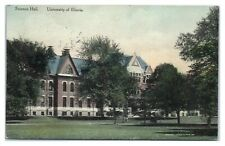 1913 Science Hall, University of Illinois, Champagne Hand-Colored Postcard *5Z3