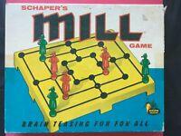 """Schaper's Mill Game (Aka """"Morelles"""" or """"Nine Men's Morris"""") - Vintage!"""