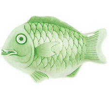Thunder Group 1400CFG, 14-Inch Melamine Fish Seafood Platter, Green, 12/CS, NSF