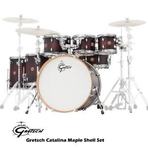 Gretsch Catalina Maple 7 Piece Drum Kit Shell Set Dark Cherry Burst CM7