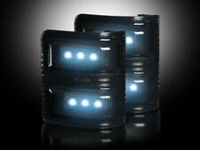 2008-16 Ford Super Duty Truck Dark Smoked Side Mirror Lenses - White LED Lights