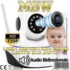 Telecamera Wifi Wireless IP Cam PTZ Motorizzata 720P 1 Megapixel OnviF con Audio