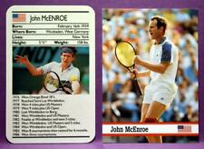 John McEnroe Pro Tennis 1988 Ace Fact Pack & 1993 Fax Pax World of Sport