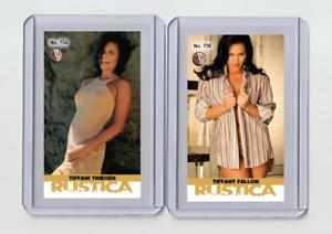 Tiffani Thiessen rare MH Rustica #'d 3/3 Tobacco card no. 754