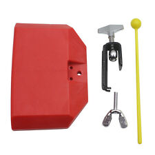 """Cow Bell 5"""" Red Plastic Latin Percussion Drum Percussion Musical Accessory"""