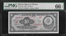 Mexico P-58l 10 Pesos 1967 PMG 66 EPQ