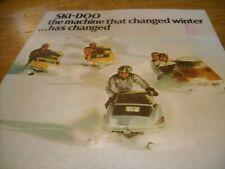 1973 Vintage SKI DOO Snowmobile Full Line Brochure Silver Bullet