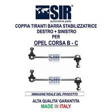 2 BIELLETTE / TIRANTI BARRA STABILIZZATRICE OPEL CORSA B - C