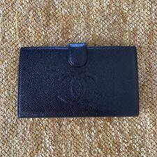 Authentic CHANEL CC Caviar Women's Leather Wallet Black MINT COND