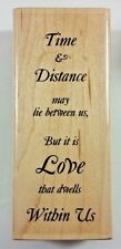 Time & Distance Rubber Stamp Paper Inspirations G9817 Love Dwells Within Us