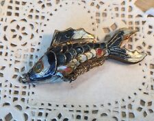 Chinese Enameled Articulated Fish Pendant For Necklace
